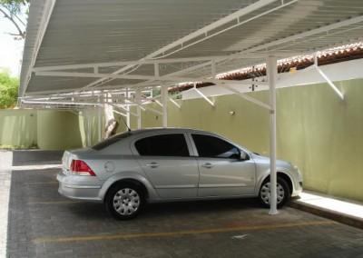 Toldo de cobertura para garagem