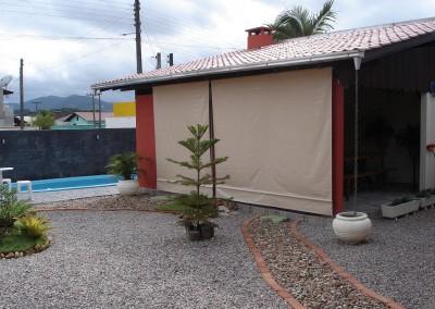 Toldo de cortina para piscina